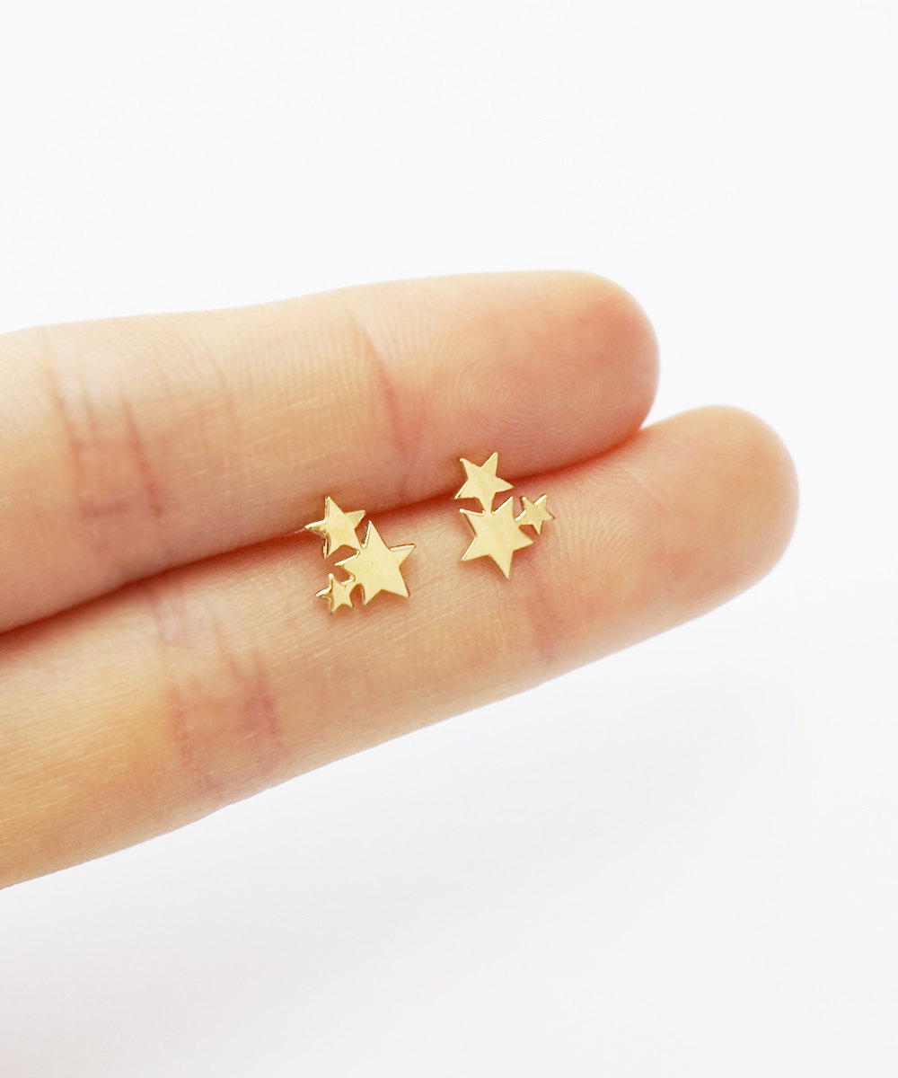 mitch b index gold delicate earrings